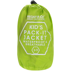 Regatta Pack It III Chaqueta Niños, lime punch